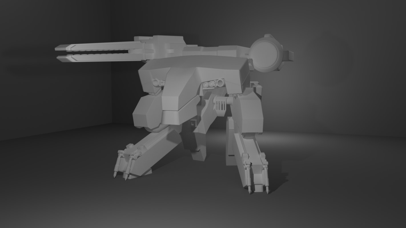 rex metal gear model