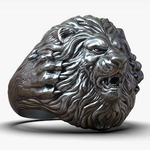 lion ring printing model