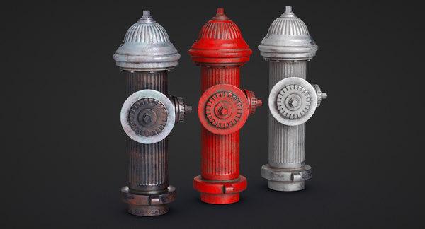 3D model hydrant street elements