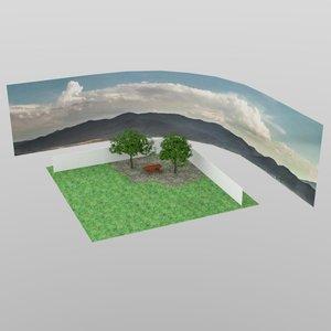 yard scene 3D model