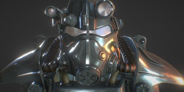 3D fallout t-45d power armor