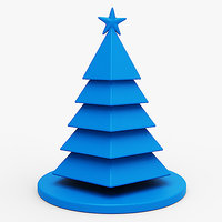 3D model christmas tree holiday