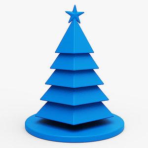 3D model christmas tree holiday