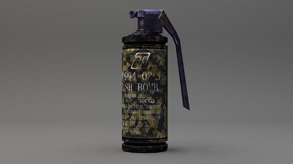 grenade smoke 3D model
