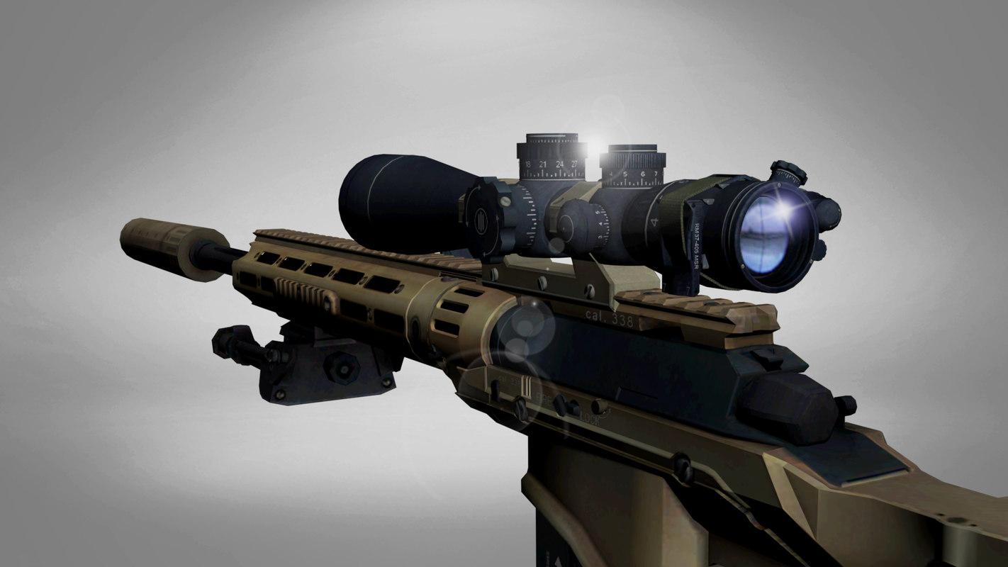 Sniper rifle gun 3D - TurboSquid 1352435