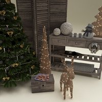 3D christmas room