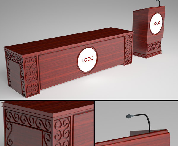 podium counter classic 3D model