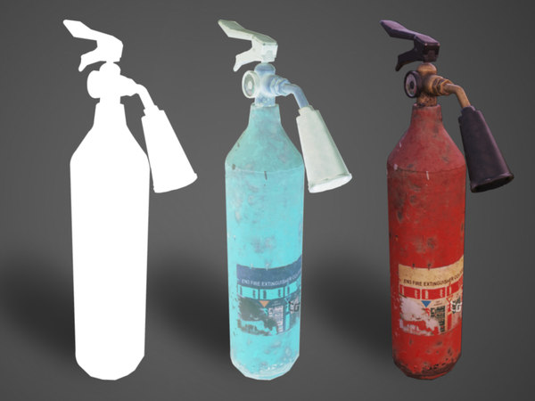 3D extinguisher industrial