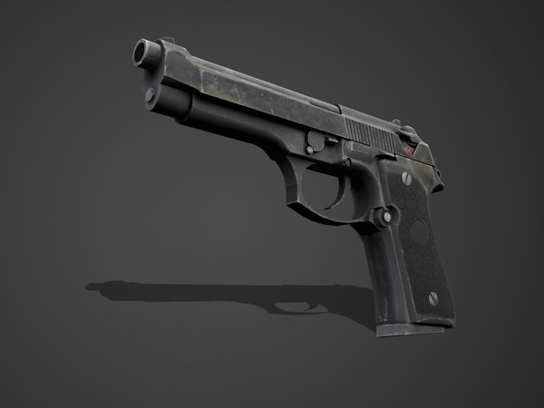 pistol m92f low-poly 3D model