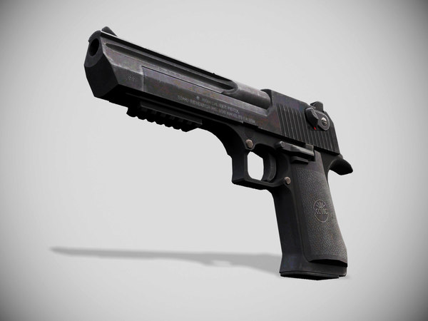 colt 1911 low-poly pistol 3D model