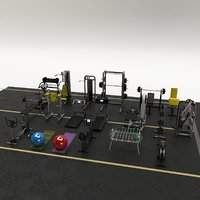 equipment gym 3D model