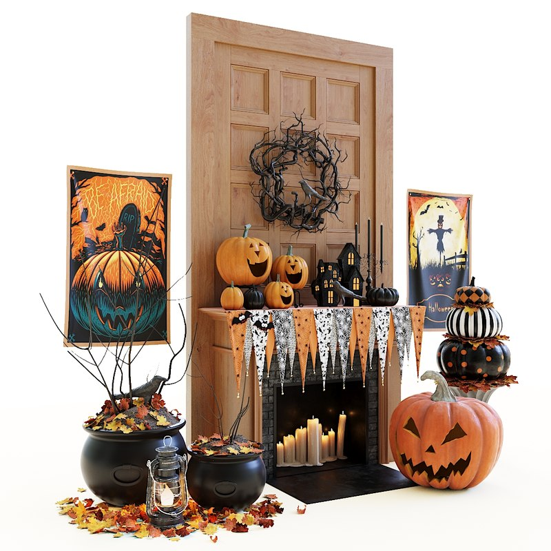3D model decor halloween set