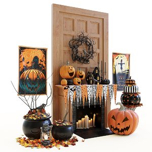 3D model decor halloween set