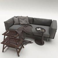 3D furniture seat settee