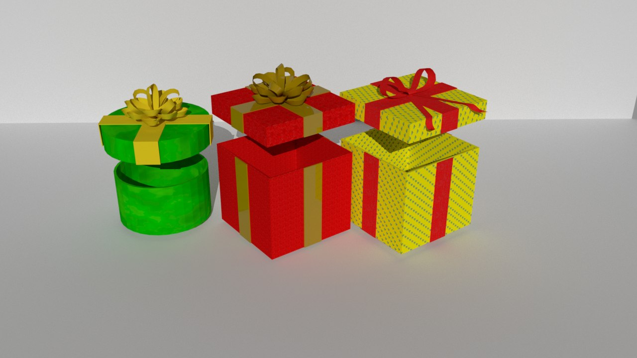 3D model gift boxes