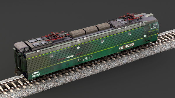 3D railroad train transport