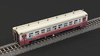 locomotive railroad train 3D model