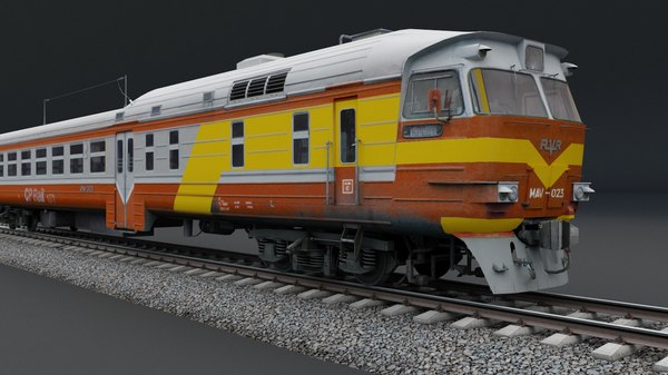 3D train vehicle model