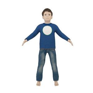3D model blender boy years old