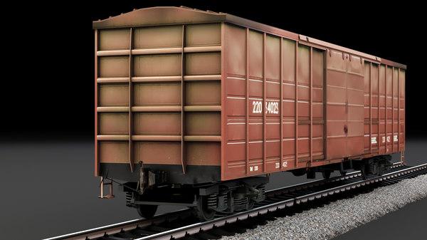 boxcar cargo 3D model