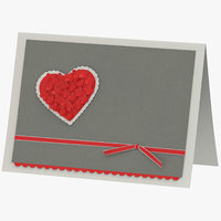 3D valentines heart model