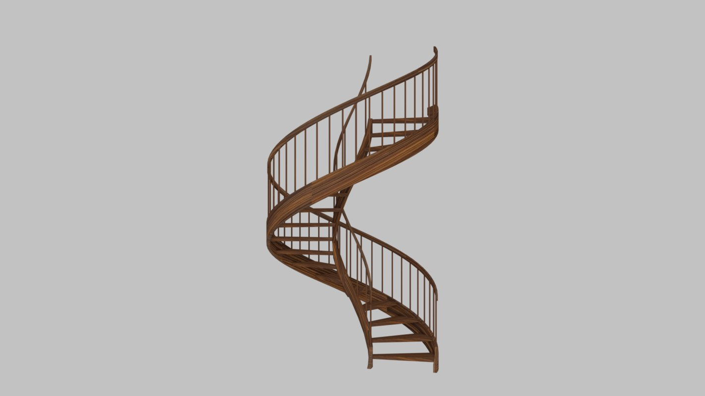 3D stairs architecture model