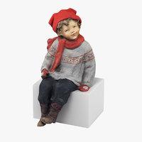 boy figurine 3D model