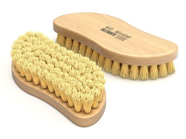 brush wood 3D model