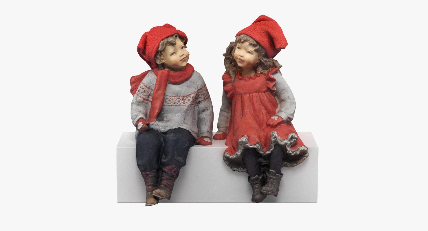 3D figurines realistic model