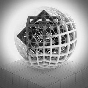 3D matjoska geogons model