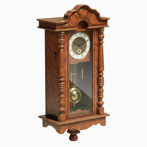 3D retro pendulum clock