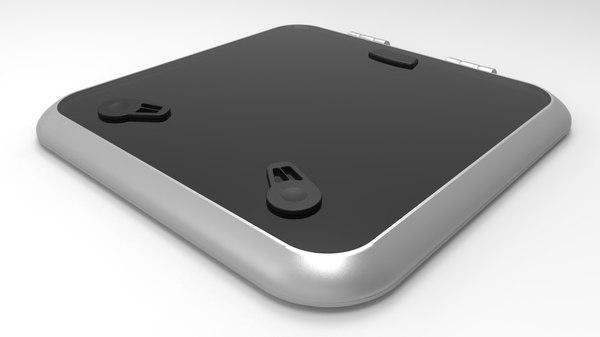typical hatch 3D model