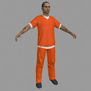 prisoner character people 3D