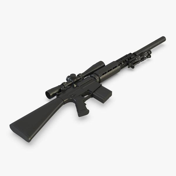 3D sniper rifle sr-25
