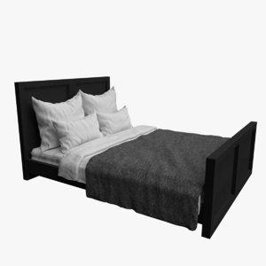 bed furnishings interior model