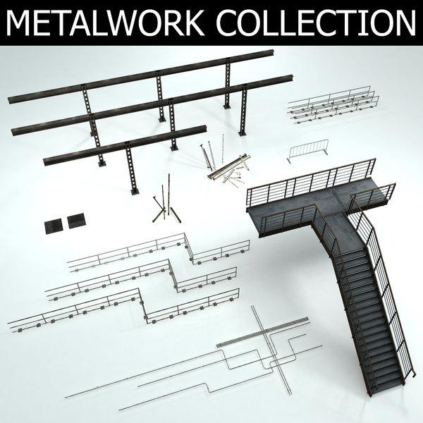 3D model metal metalwork
