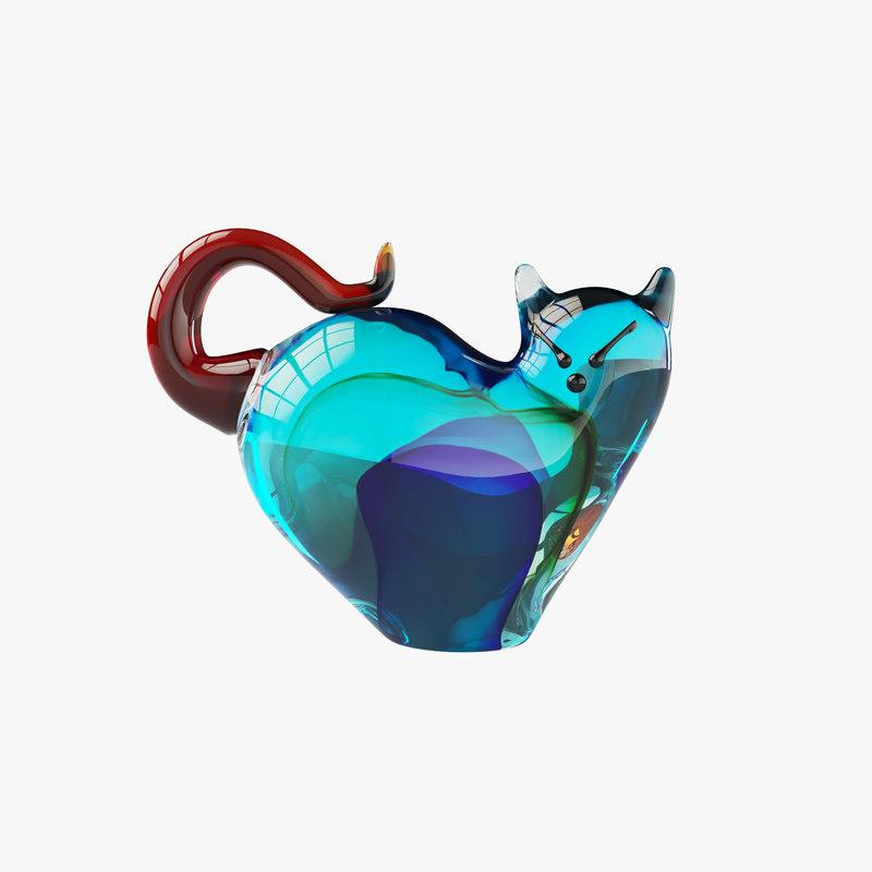 3D decor glass model