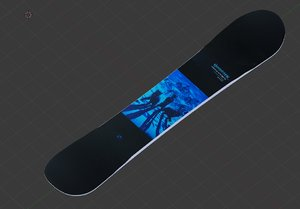 3D snowboard snow board model