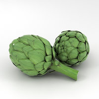 artichoke vegetable food 3D model