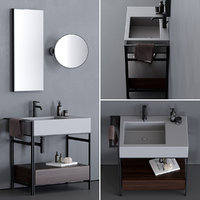 Ceramica Cielo Narciso Mini Washbasin Set 2