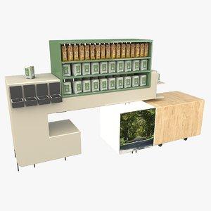 grocery store shelve 3D model