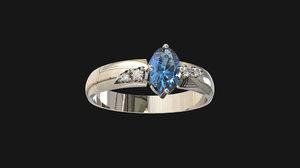 3D model diamonds ring