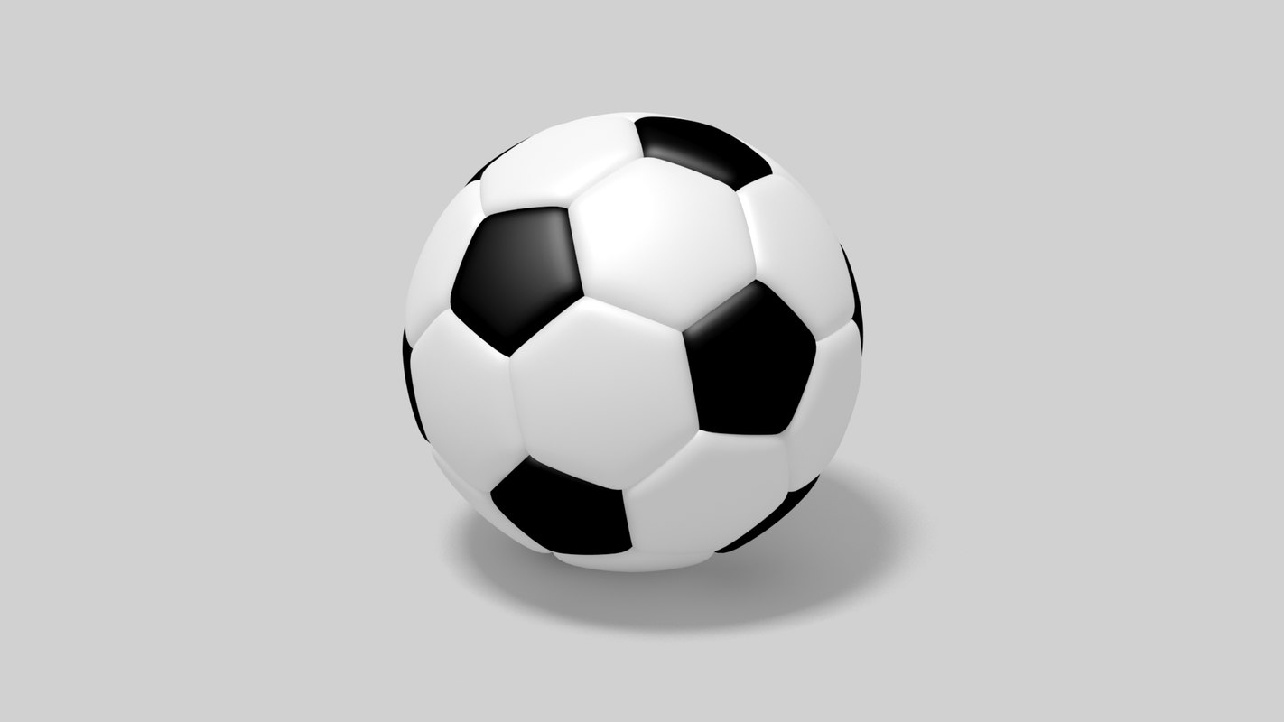 realistic soccer ball depth 3D model