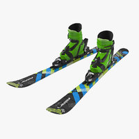 elan kids alpine boots 3D model