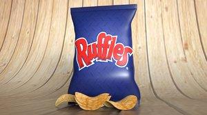 3D potatoes chips