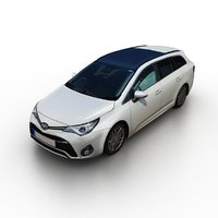 3D 2015 toyota avensis touring model