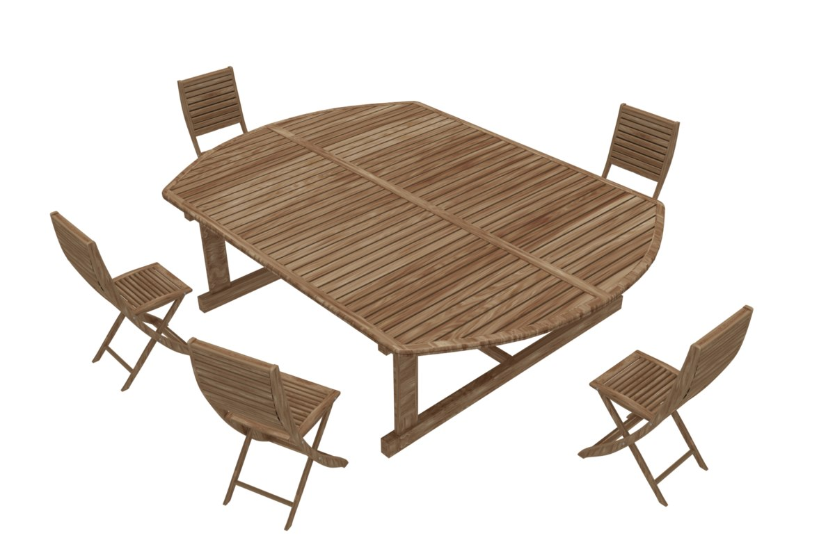 table garden chair 3D model