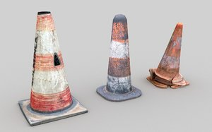street bollard pack 3 3D model