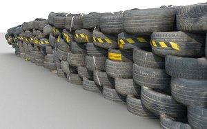 3D tire barrier scan