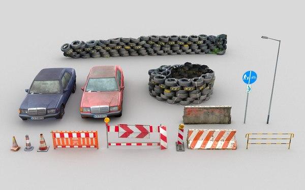 3D model street barriersr scan lp